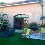 Salon de jardin, balançoire, transat